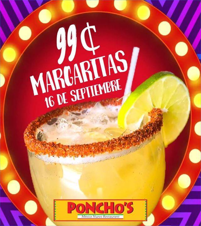 99¢ Margaritas | 16 de Septiembre